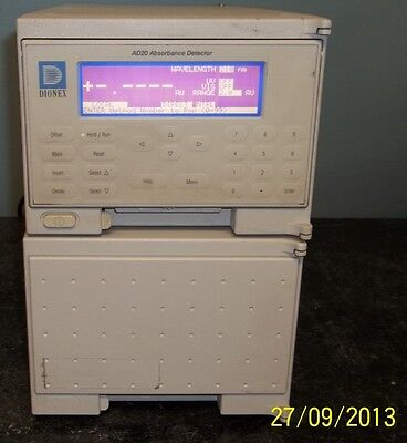 Dionex Ad20 Absorbance Detector S/n: 96060582 250V~F3 15A