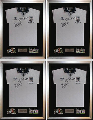 """4 X Frame For Signed Football Shirt plus any 2 Landscape 6"""" x 4"""" photos"""