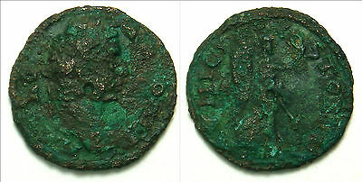 CARACALLA AE22 Stobi/Macedonia Victory with wreath & palm branch (5.1 gr, 22 mm)