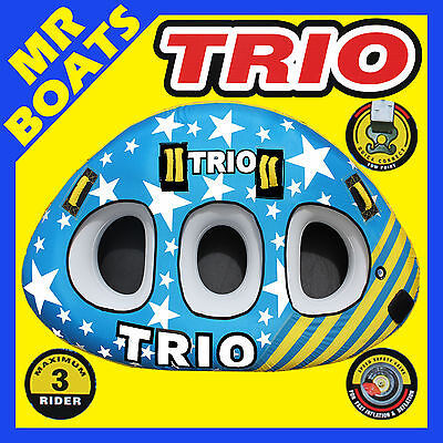 SKI TUBE X-LARGE ✱ TRIO ✱ 1-3 Person Top Quality Ski Biscuit NEW 96 Inch / 243cm
