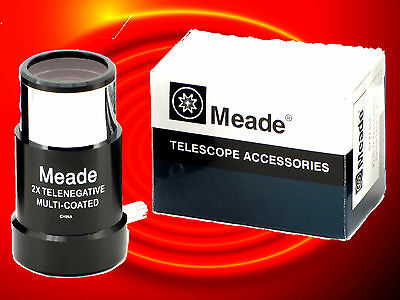 MEADE #126 2x Short-Focus BARLOW LENS 1.25 inches Focuser Diameter