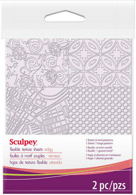 Sculpey Flexible Texture Makers Sheets Edgy Set 7 Different Patterns