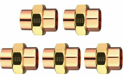 """Elkhart 33582 Lot of (5) Five 3/4"""" Copper to Copper Union Plumbing"""
