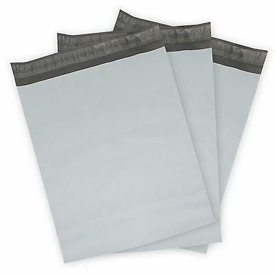 Poly Mailers (Plastic Envelopes) White/Gray Shipping Mailing Bags -- 2.50 mil