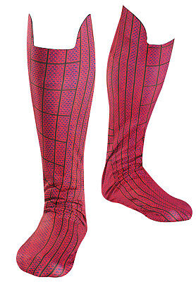 Amazing Spider-Man Adult Boot Shoes Covers Fancy Dress Up Halloween Costume, STD