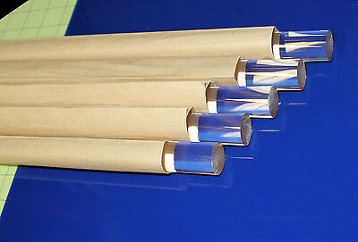 "5 Pieces Clear Acrylic Plexiglass Rod 3/4"" Diameter 12"" Inch Long Free Shipping"
