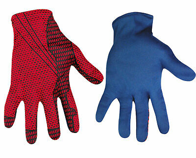 The Amazing Spider-Man Costume Gloves Adult, Halloween Fancy Dress Up, One-Size,
