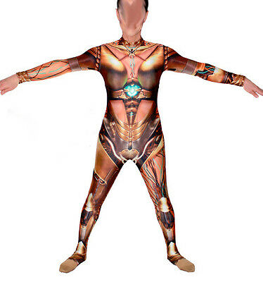 Airbrushed Robot Lycra Bodysuit/catsuit/dance Costume/drag Queen (Sm - Lg - 2Xl)