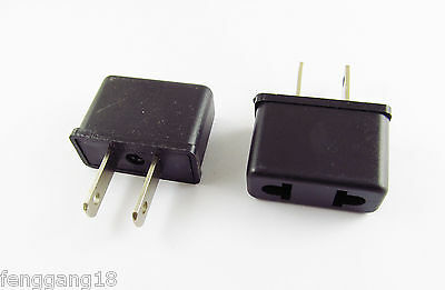 10x EU Europe EURO To US USA AC Power Wall Plug Travel Charger Adapter Converter
