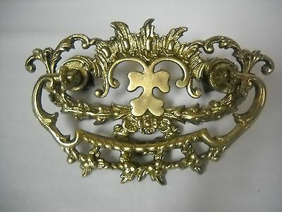 Antique Ornate Cast Brass Drawer Victorian Drawer Pull