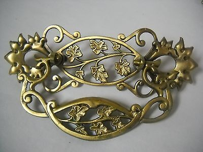 "Large Antique Victorian Cast Brass Drawer Pull 3"" Center"