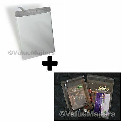 200 Bags 100 10x13 Poly Mailers Envelopes Self Sealing Plastic 100 9x12 Clear