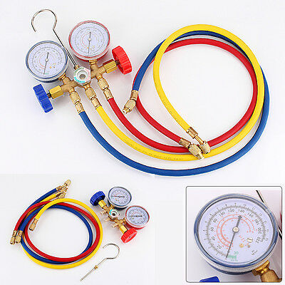 UK SHIP-A/C Refrigeration Air Conditioning AC Diagnostic Manifold Gauge Tool Set