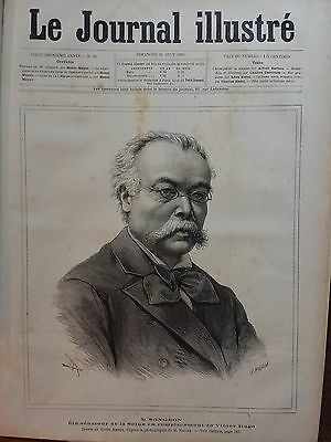 Le Journal Illustre 1885 N 35 M.jacques Songeon,  Elu Senateur De La Seine