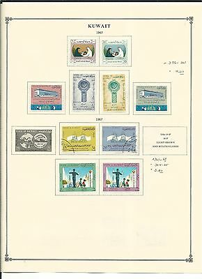 Kuwait 1967 to 1972 Collection on Scott International Pages, SCV $171