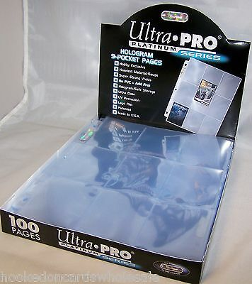 10 Ultra Pro Platinum 9 Pocket Card Pages Sheets