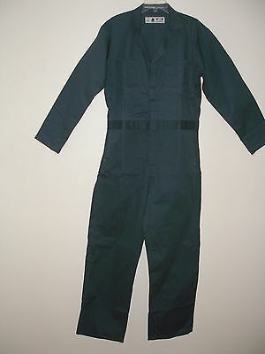 Mens 100% Cotton Coveralls Size 36R Spruce Green