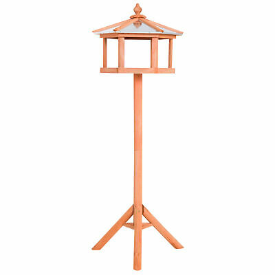 Deluxe Bird Table Feeding Station Wooden Feeder Garden Wood House Coop Brand New