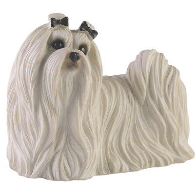 ♛ SANDICAST Dog Figurine Sculpture Maltese