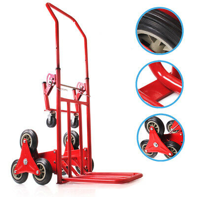 Heavy Duty 6 Wheel 120Kg Stair Climb Climbing Hand Sack Trolley Warehouse Truck