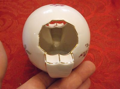 ANDREA BY SADEK  EGG SHAPED HAND PAINTED PORCELAIN ASHTRAY