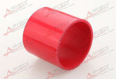 "3Ply 3.25"" inch Straight Hose 70mm Turbo Silicone Coupler Pipe Red"