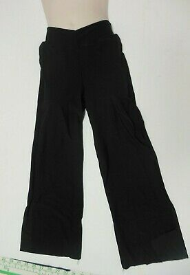 NWT Main Street  V-Front Black Pants Poly Spandex child and adult sizes