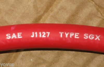 New Red 2/0 Sgx High Hi-Temp Temperature Battery Power Cable Engine Starter Wire