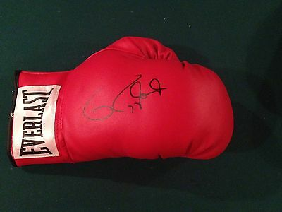 Roy Jones Jr autographed leather Everlast boxing glove