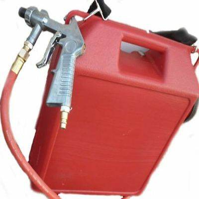 Portable Air Sand Blaster 30lb Capacity Steel Nozzle Rust Removal Cars