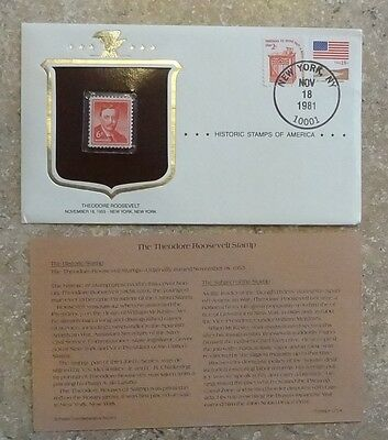 Theodore Roosevelt Historic Stamps of America 1955