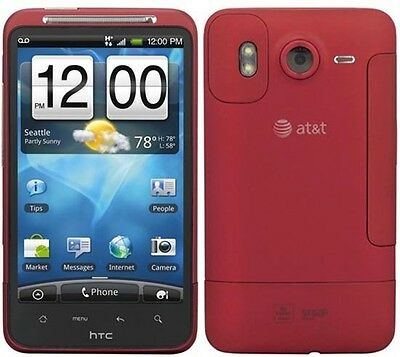 """Red AT&T HTC Inspire GSM 4G 4.3"""" Touch Screen Smart Phone 8MP 720P HD Video WiFi"""