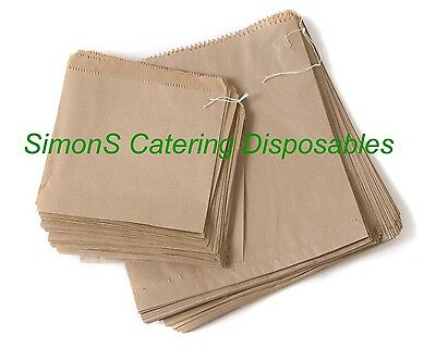 Brown Kraft Or White  Sulphite Paper Bags - Strung (Food Grade)