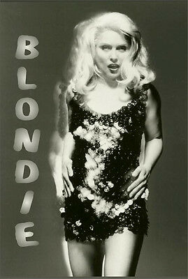 BLONDIE - GLITTER MUSIC POSTER - 24x36 SHRINK WRAPPED - DEBBIE HARRY 786