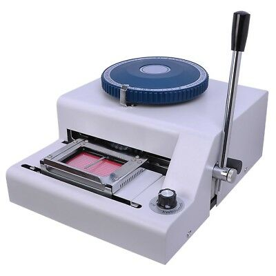 70-Character PVC Card Embosser Laser Engraved Dial Stamping Credit ID Embossing