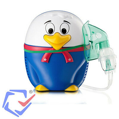 Inhaliergerät Kinder Inhalator Inhalation Aerosol Vernebler Kompressor Vogel