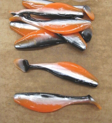 """6/"""" Shad Paddle Tail Swimbait great for Umbrella Rig 15 Count Bag Pearl Blue Back"""