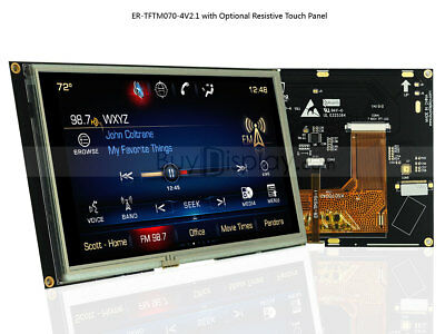 """7"""" 7inch TFT LCD Module Touch Panel Screen Display,SSD1963 Controller w/Tutorial"""