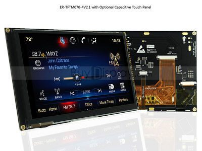 "7"" 7 inch TFT LCD Module Display w/Multi-Capacitive Touch Panel Screen,Tutorial"