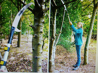Extendable Pruning Saw 1.5 To 2.5 Meter's Tri Cut Action Blade Pole Lock  245077