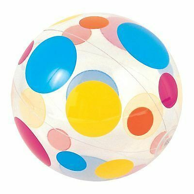 """BEACH BALL  PRINTED 24"""" 61CM INFLATABLE IDEAL FOR HOLIDAYS, SWIMMING POOL ETC"""