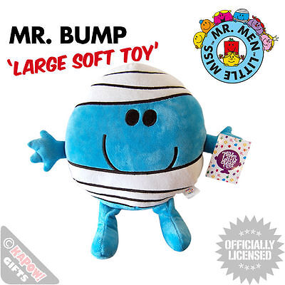 Mr Bump Soft Toy - NEW Mr Men Large Plush Teddy Cool Collectable Cute