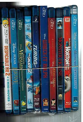 MONSTERS UNIVERSITY DISPICABLE ME 2 SMURFS 2 WRECK IT RALPH 10 BLU RAY LOT (B)