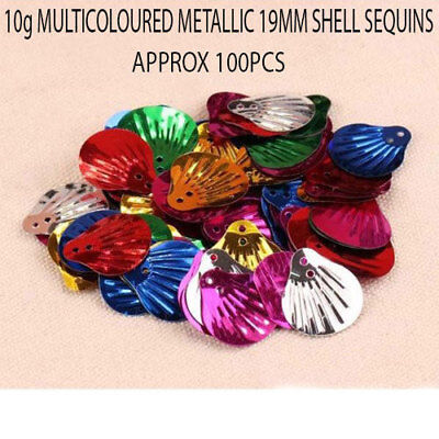 10grams Multicoloured Metallic Loose 19MM Shell Sequins Sewing Wedding Crafts