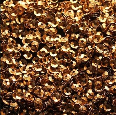 1000 Bronze 7mm Round Paillette Cup Loose Sequins Sewing Wedding Art Craft