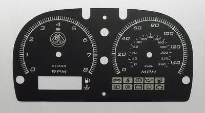Lockwood Lotus Elise Series 2 S2 BLACK Dial Conversion Kit C879