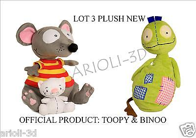 "LOT NEW TOOPY 10"" AND BINOO 4"" + PATCHY PATCH 12"" PLUSH DOLL STUFFED ANIMAL SOFT"