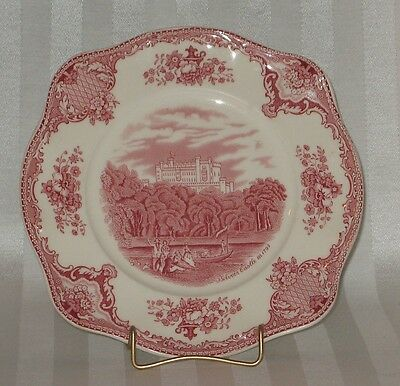 Johnson Brothers Bros. Old Britain Castles in Pink ENGLAND Square Salad Plate