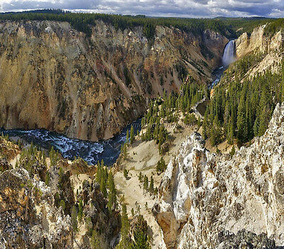 High resolution landscape panoramic photography - Yellowstone Nationalpark
