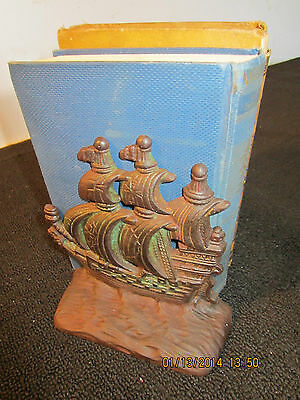Pr Of Antique Cast Iron Clipper Ship Bookends